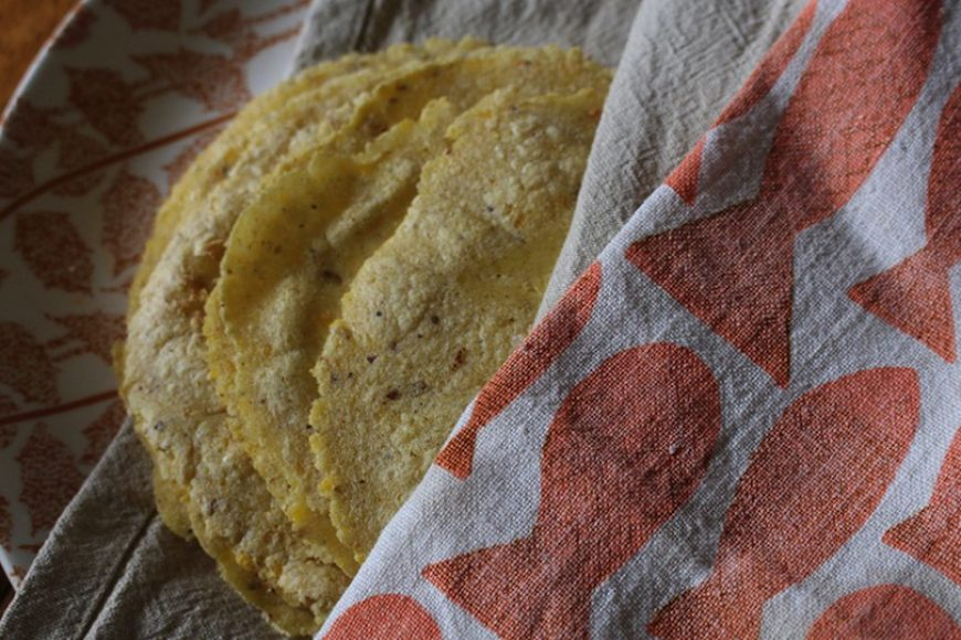 Homegrown Corn Tortillas